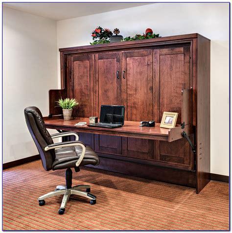 horizontal queen murphy bed  desk desk home design