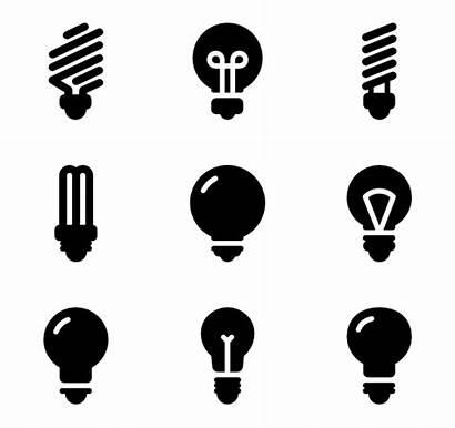 Bulb Icon Vector Lightbulb Lamp Icons Bulbs