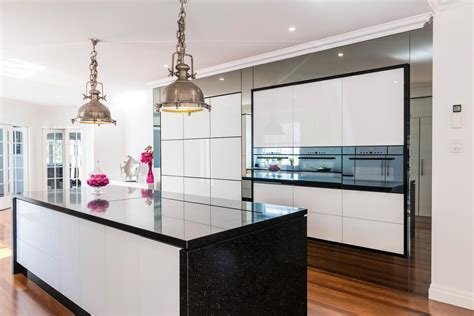 Pink, white and black kitchen design   Completehome