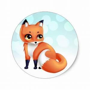 Cute Red Fox Cartoon