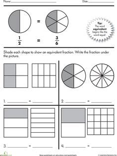 1000 images about 3rd grade math fractions on pinterest fractions equivalent fractions and