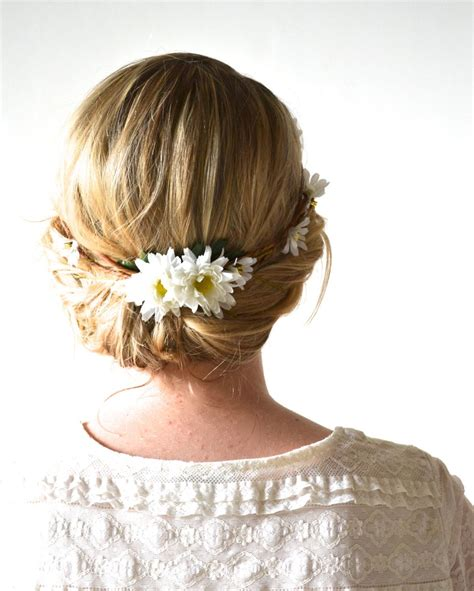 daisy headpiece flower crown floral crown woodland