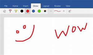 Word Mobile Updated On Windows 10 With Drawing Tools