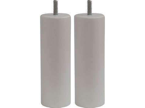 pied de lit conforama jeu de 2 pieds h15 cm coloris blanc vente de pied de lit conforama