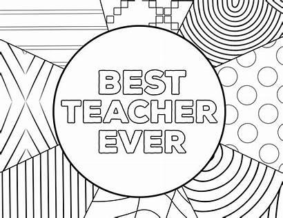 Teacher Coloring Appreciation Printable Thank Ever Card
