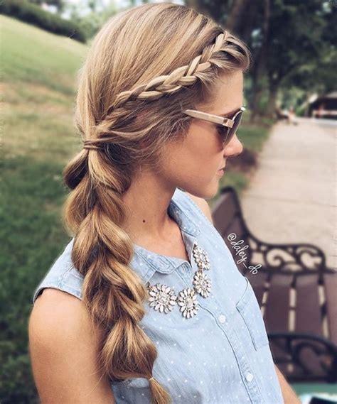 coiffure femme tresse   modeles les  belles cet ete coiffure simple  facile