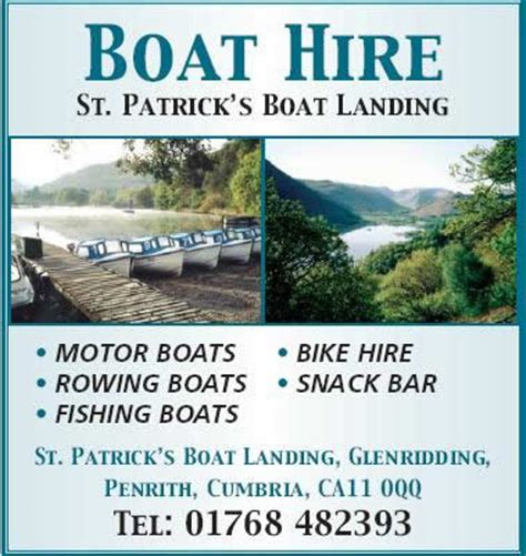 Fishing Boat Hire Ullswater by St Patricks Landing Boat Hire Child Friendly Attraction
