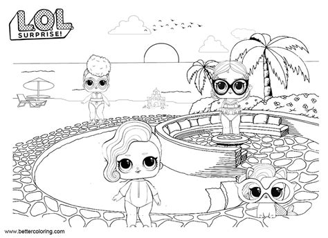 Lol Pets Coloring Pages Dolls With Pet