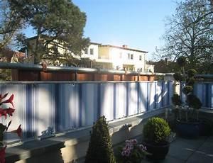 Balkonbespannung Nach Maß : balkonsichtschutz mit textilen balkonverkleidungen nach ma ein kundenfoto customized ~ Watch28wear.com Haus und Dekorationen
