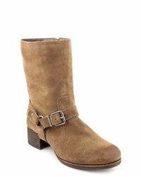 how to wear brown suede mid calf boots 7 looks women39s With robe marron daim