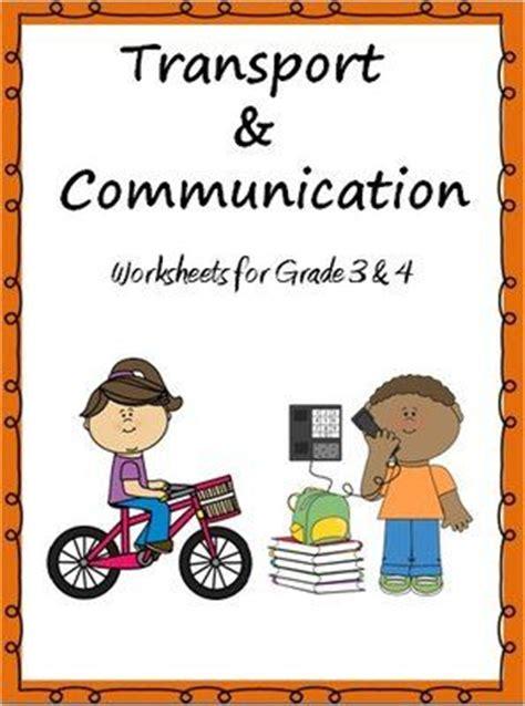 transport  communication worksheets  grade