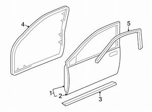 2001 Buick Park Avenue Door Seal  Front  Lower   Left