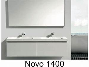 bathroom furniture sink washbasins meuble sdb hanging With meuble suspendu double vasque