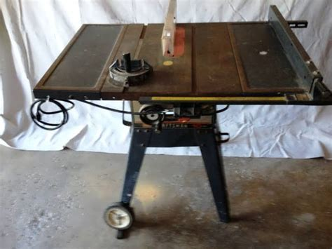 craftsman table saw blade sears craftsman 10 quot 14a table bench saw w legs