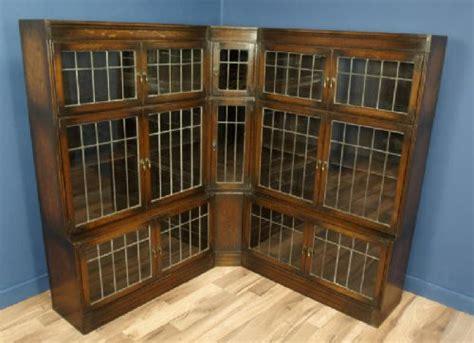 Oak Globe Wernicke Style Sectional Corner Bookcase