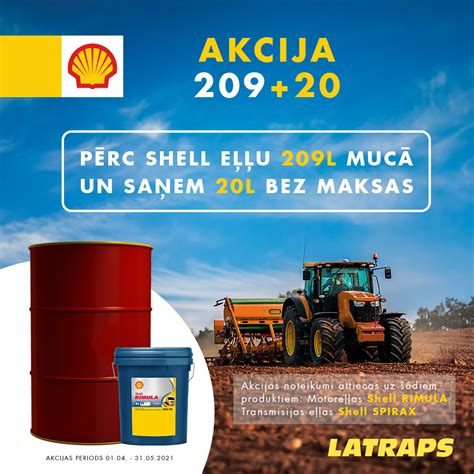 Izvēlies Shell un saņem dāvanā 20l eļļas ...