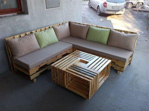 pallet settee wooden pallet l shape sofa set