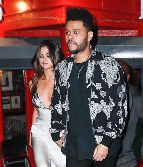 Selena Gomez with The Weeknd - Rao's Restaurant in New ...