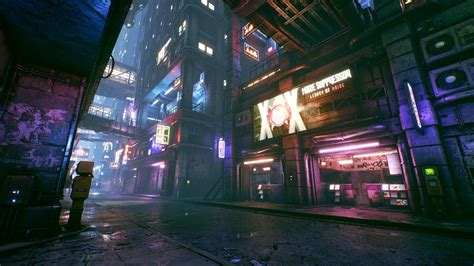 artstation cyberpunk city alley unreal engine