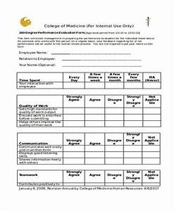 Employee appraisal form free downloadable performance for 360 performance evaluation template