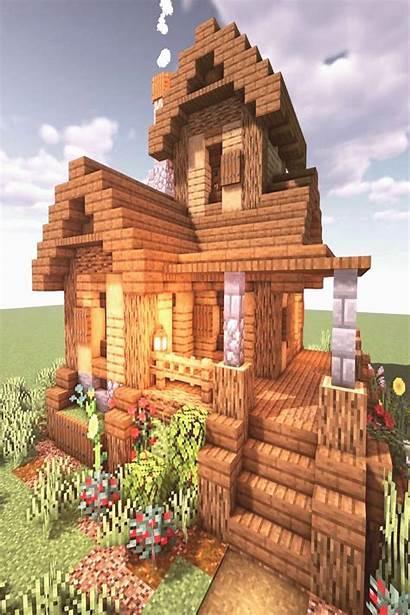 Minecraft Cottage Houses Survival Build Blueprints Medieval