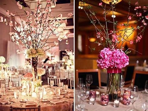 Cherry Blossom Wedding Centerpieces Themed Wedding