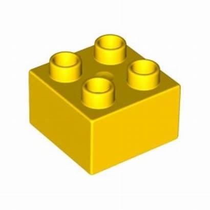 Lego Duplo Clipart Yellow Brick Blocks Bricks