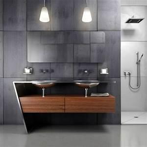 meuble de salle de bain design noir idees deco salle de bain With meuble sdb design