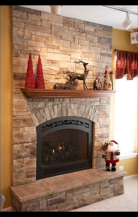 stone fireplaces  wood mantels