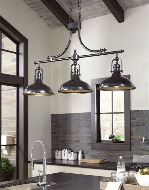 3 light kitchen fixture 15 best collection of 3 pendant lights for kitchen island 3859