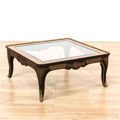 square coffee table with glass insert square burlwood glass insert coffee table loveseat