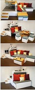Dining tables for small places small space dining room for Mueble integral multi usos para