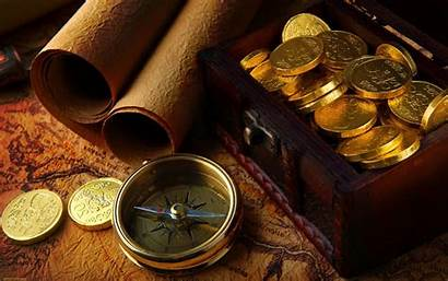 Gold Money Coins Wallpapers Treasure Antique Desktop