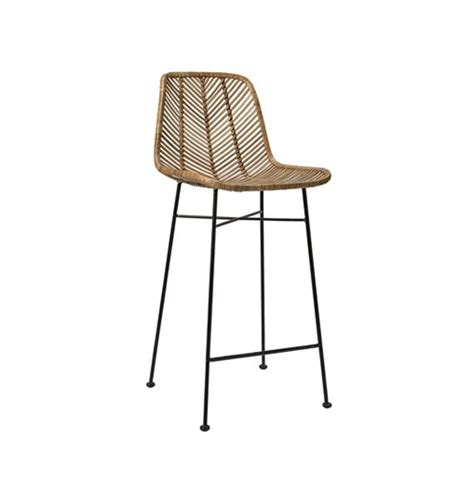 tabouret de bar en rotin naturel bloomingville gallartdeco
