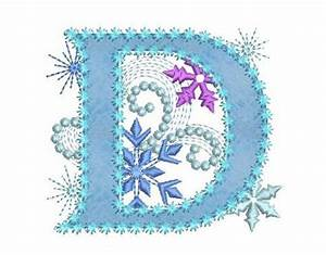 Ice Princess Applique Letter D Frozen Cloth Decor Applique