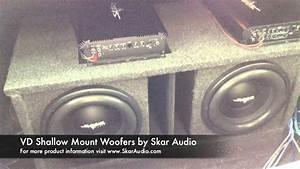Skar Audio Dual Ported Vd-10 Subwoofer Setup - Clean  U0026 Loud -
