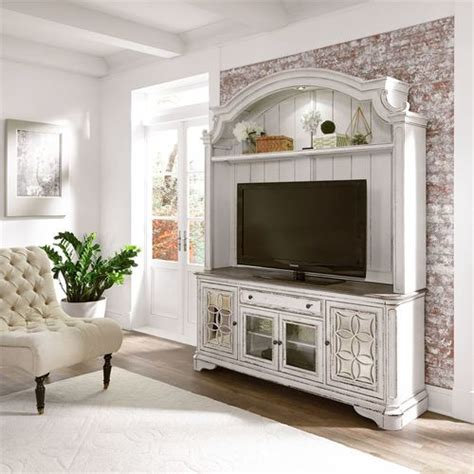 magnolia manor tv console  hutch