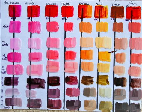 paint color mixing acrylic paint
