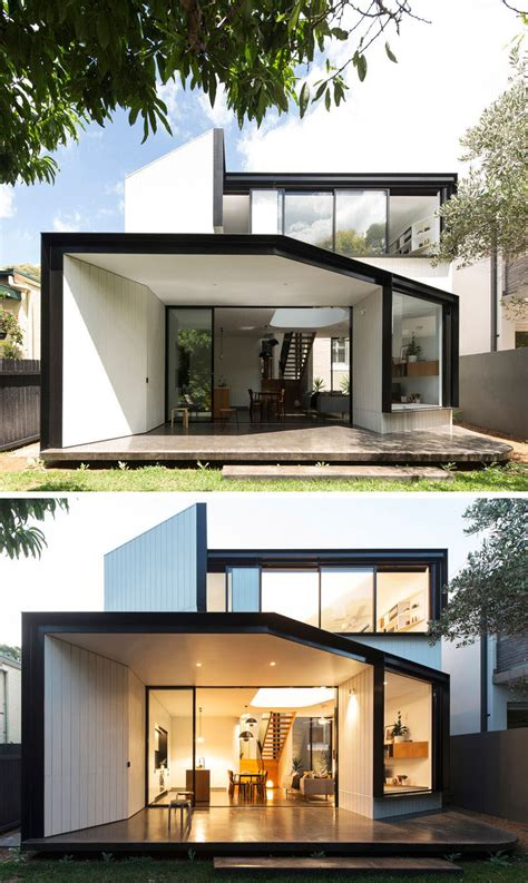 Home Design Ideas Architecture by Christopher Polly Designs An Angular Rear Extension For