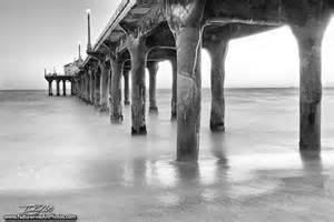 Black and White Manhattan Beach Pier