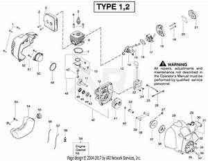 Poulan Fx26s Gas Trimmer Type 2 Parts Diagram For Engine 1 2