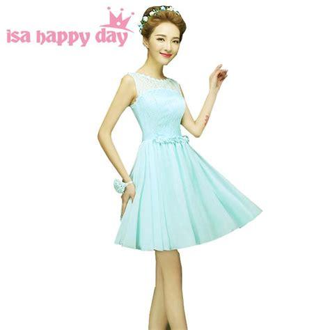 lace top short light blue mint bridesmaid dress china