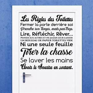 sticker citation design les regles des toilettes With affiche chambre bébé avec comment envoyer fleurs pour enterrement