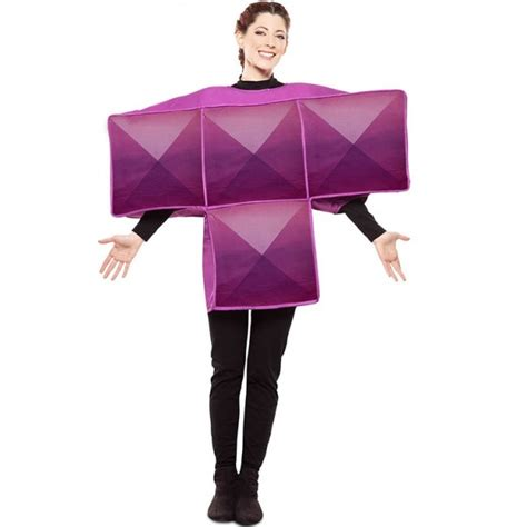 Disfraz Tetris Morado para Adulto【Envío en 24h】