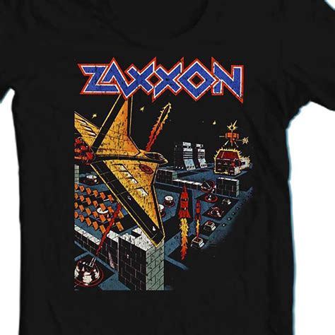 Zaxxon T Shirt Retro Vintage Arcade Video Game 1980s