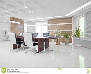 Modern office interior stock illustration. Illustration of ...