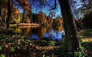 Picture, Warsaw, Poland, Hdri, Nature, Pond, Parks, Trees, 1920x1200