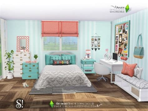 sims resource jules bedroom  simcredible sims