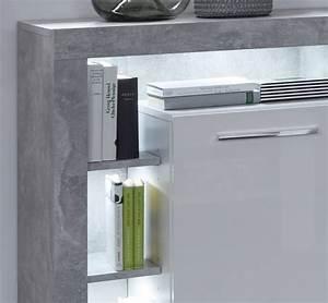 Sideboard 200 Cm Weiß : sideboard rock wei hochglanz und stone grau 200x90 cm ~ Bigdaddyawards.com Haus und Dekorationen