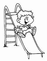 Colorir Coloring Play Children Bambini Che Giocano Pintar Desenhos Brincando Menino Brincadeiras Disegni Patio Escorregador Juegos Tobogan Folcloricas Dibujos Laminas sketch template